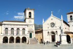 Art in Valnerina. Norcia, the basilica of St. Benedict